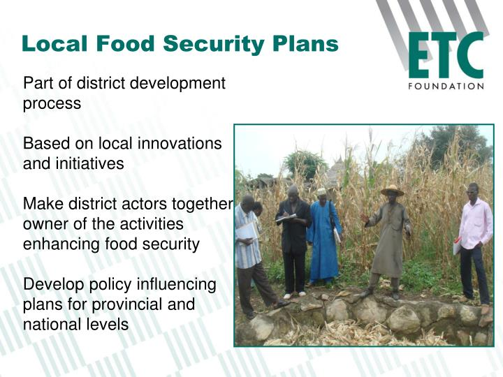 Local Food Security Plans