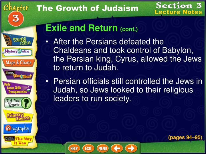 The Growth of Judaism