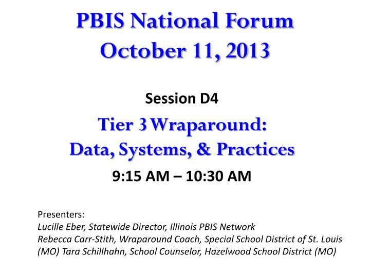 pbis national forum october 11 2013 n.