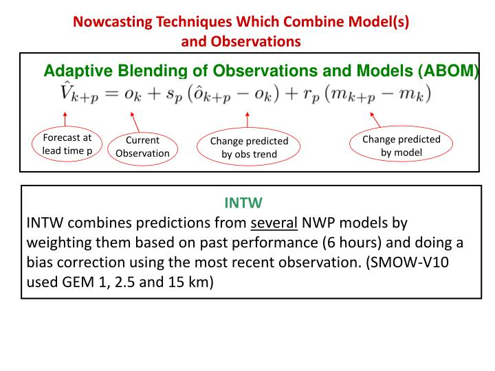 Adaptive Blending of Observations and Models (ABOM)