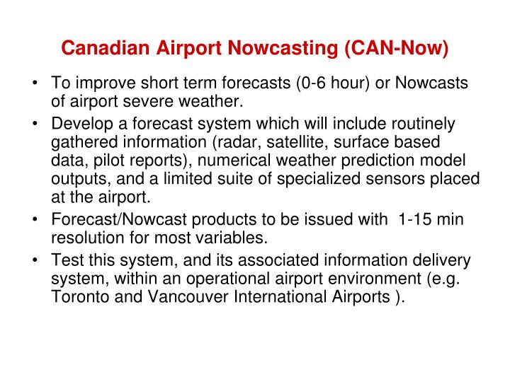 Canadian airport nowcasting can now