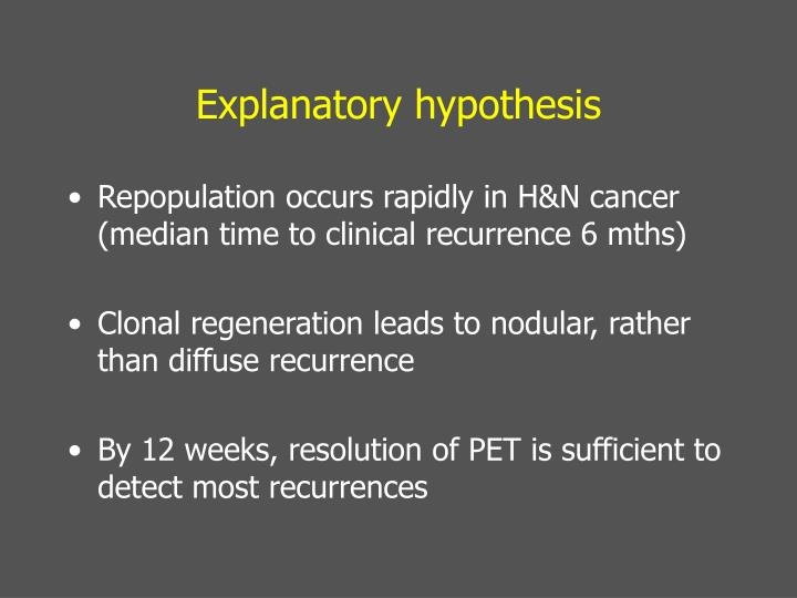 Explanatory hypothesis