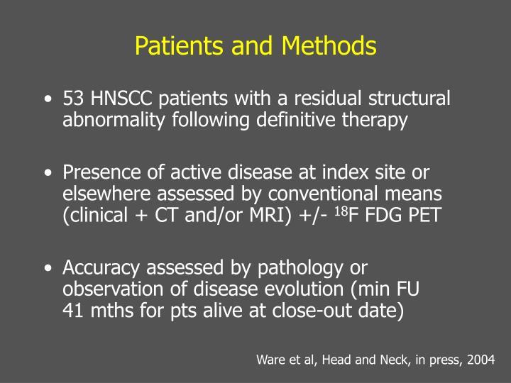 Patients and Methods