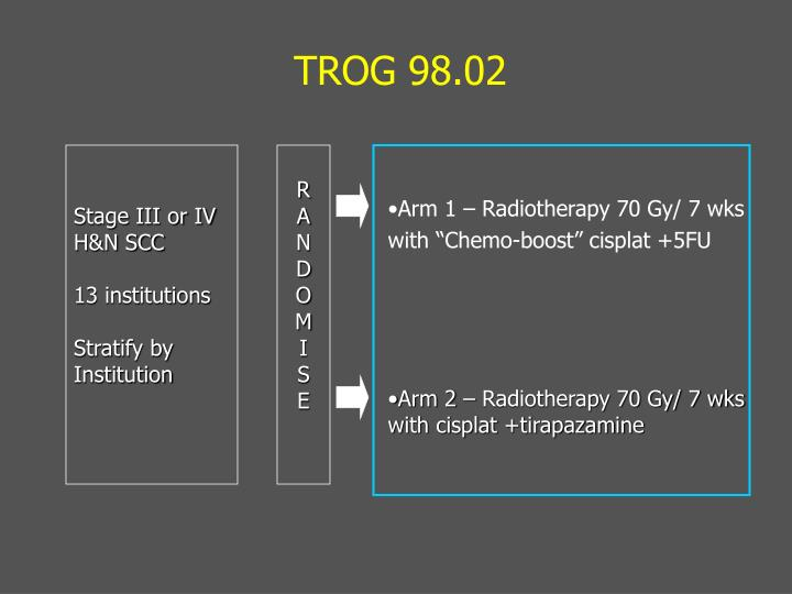 Arm 1 – Radiotherapy 70 Gy/ 7 wks