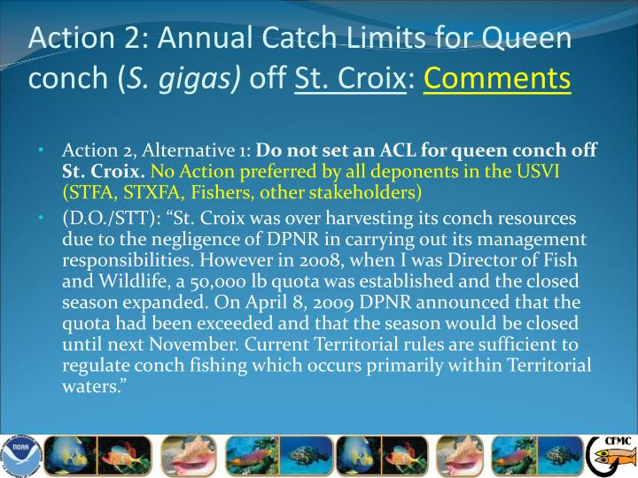 Action 2: Annual Catch Limits for Queen conch (
