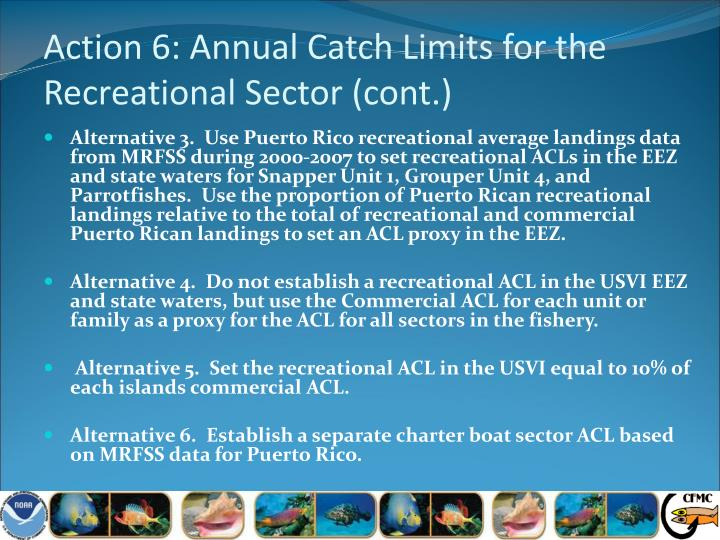 Action 6: Annual Catch Limits for the Recreational Sector (cont.)