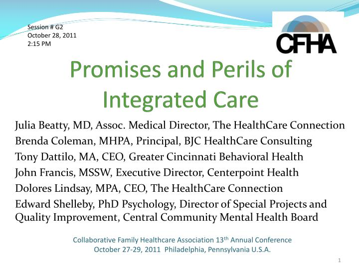promises and perils of integrated care n.