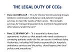 the legal duty of ccgs
