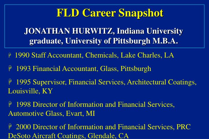 FLD Career Snapshot