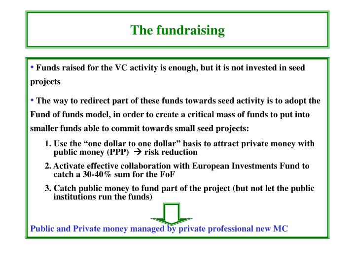 The fundraising