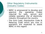 other regulatory instruments industry codes