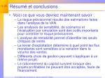 r sum et conclusions