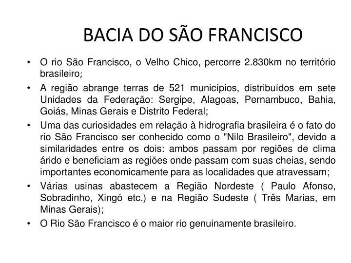 BACIA DO SÃO FRANCISCO