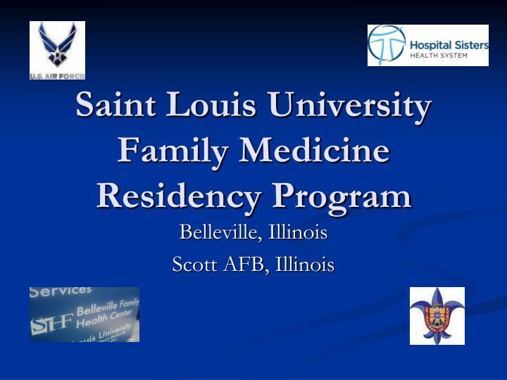 saint louis university family medicine residency program n.