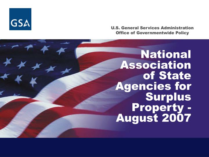 national association of state agencies for surplus property august 2007 n.