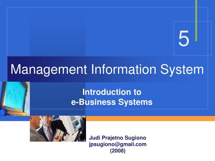 management information system n.