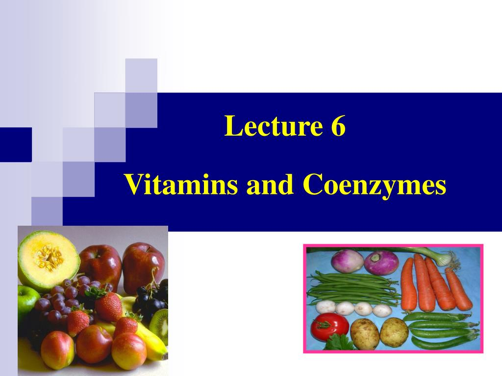 Vitamins & Coenzymes, Part L