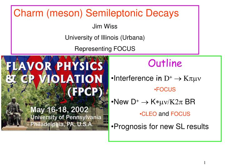 Charm (meson) Semileptonic Decays