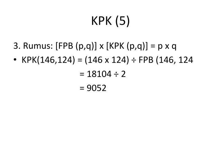 PPT - FPB dan KPK PowerPoint Presentation - ID:3300496