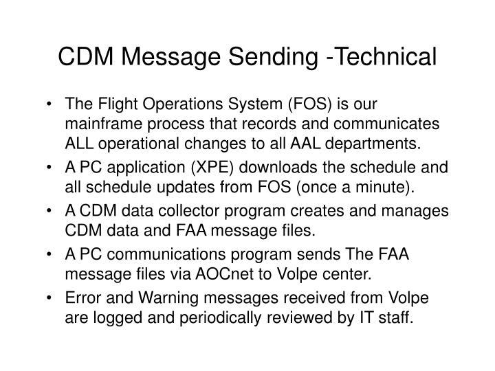 Cdm message sending technical