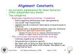 alignment constants