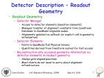 detector description readout geometry