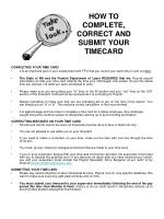 how to complete correct and submit your timecard