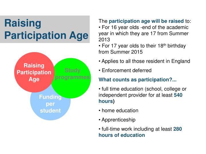 Raising Participation Age