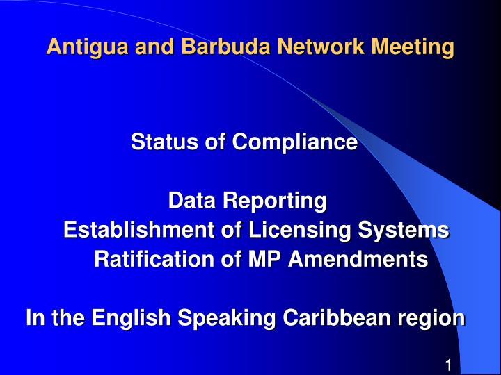 antigua and barbuda network meeting n.