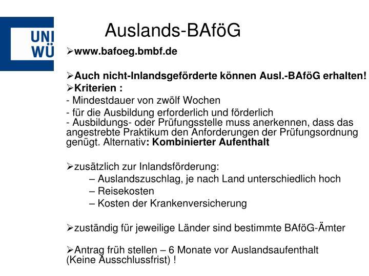 Auslands-BAföG