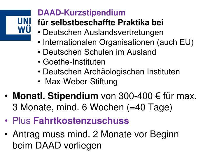DAAD-Kurzstipendium