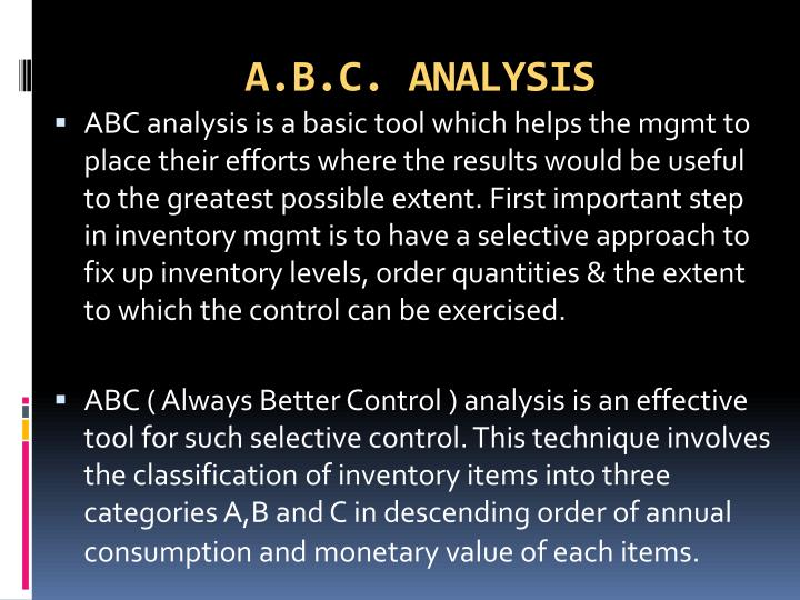 abc analysis tool