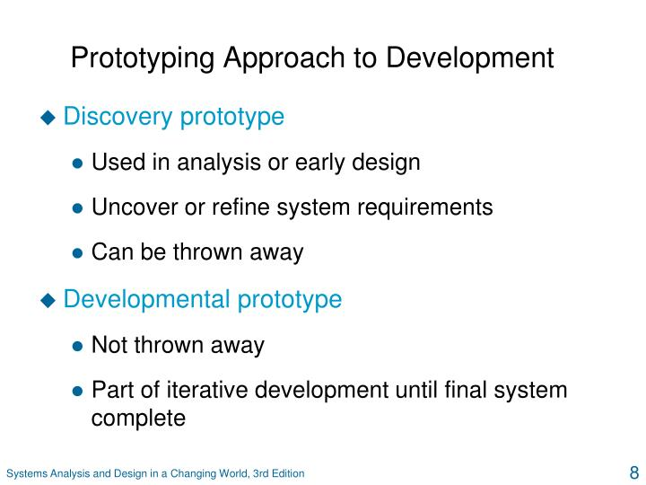 Prototyping Approach to Development