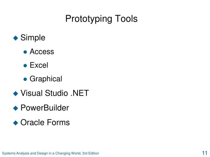 Prototyping Tools