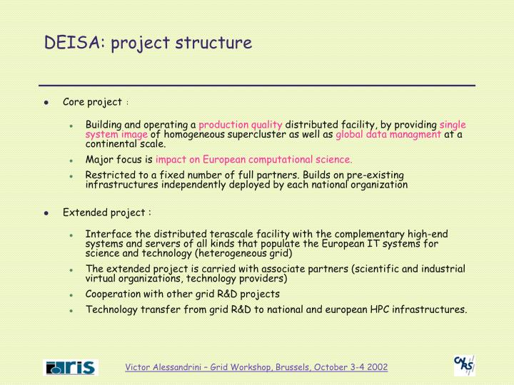 Deisa project structure