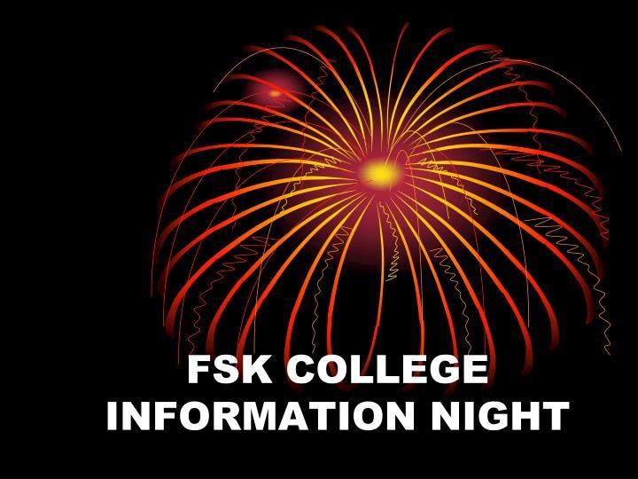 fsk college information night n.