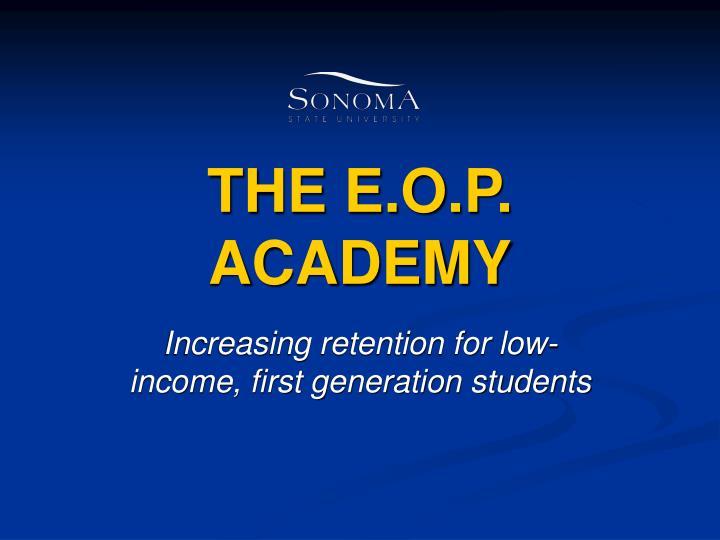 the e o p academy n.