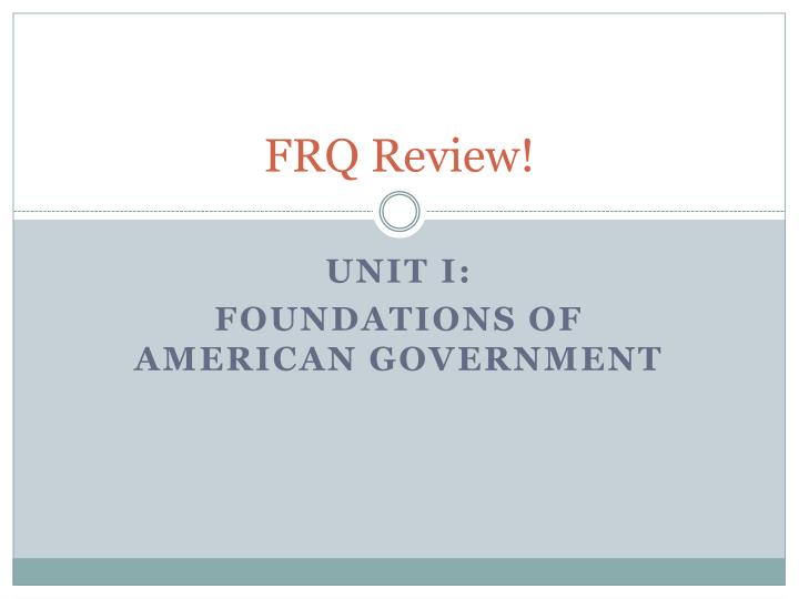 frq review n.