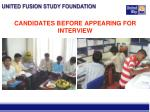 candidates before appearing for interview