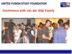 conference with van der wijk family