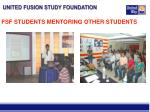 fsf students mentoring other students