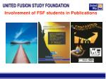 involvement of fsf students in publications