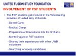 involvement of fsf students