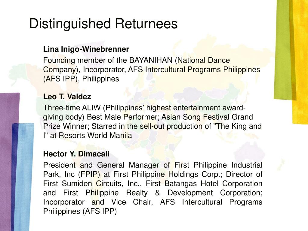 PPT - Who's Who in AFS Philippines PowerPoint Presentation