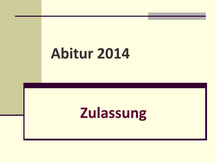 abitur 2014 n.