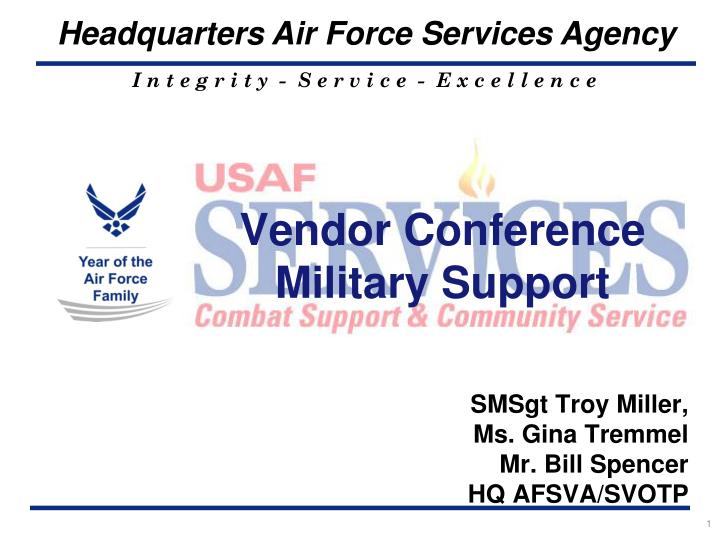 vendor conference military support n.