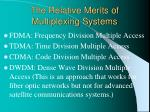 the relative merits of multiplexing systems