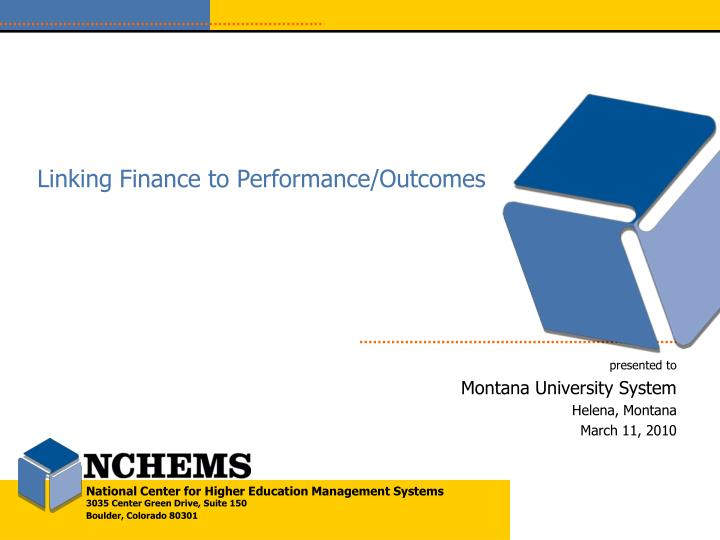 linking finance to performance outcomes n.