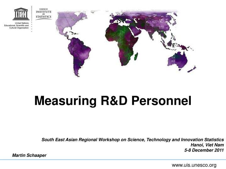 measuring r d personnel n.