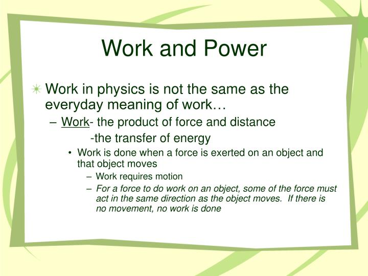 Work and power1